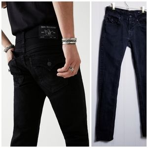True Religion Rocco Relaxed Skinny Jean Black